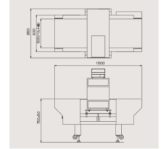 コンベア式金属検出機 V-Series V-1500