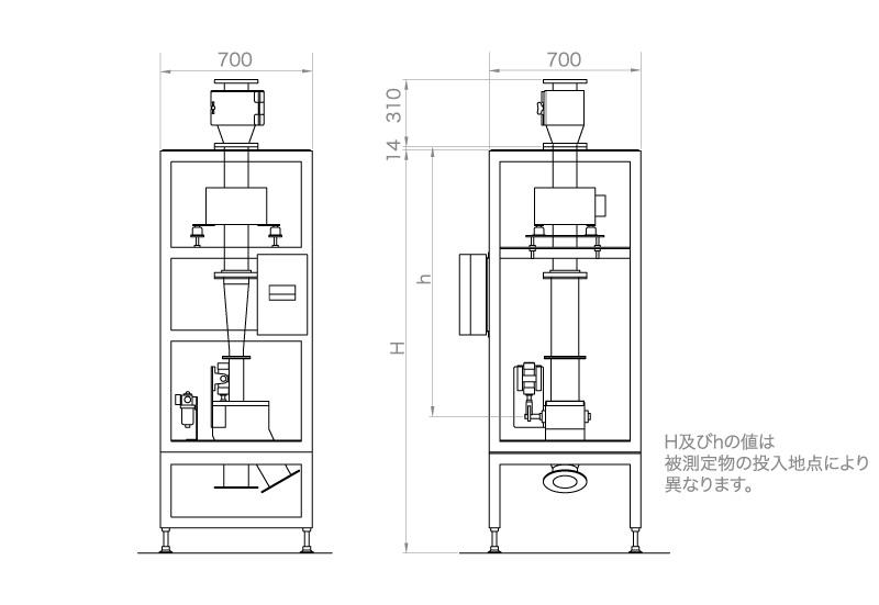 落下・シュート式金属検出機 MMVD-100R-RB