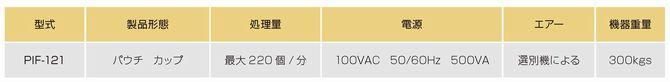 食品用ピンホール検査機 PIF-100シリーズ